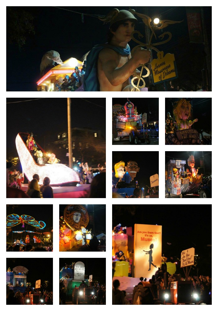 mardi gras parade collage